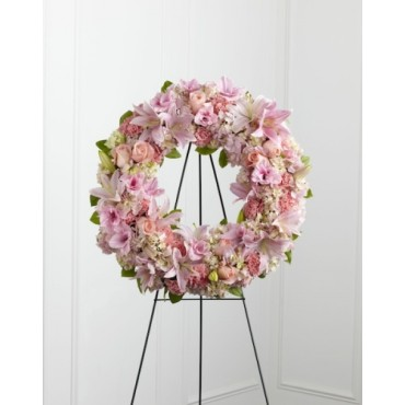 Classic pink roses wreath
